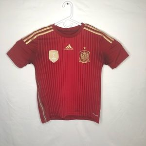Youth Large Red Spain Jersey with World Cup Patch